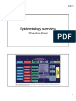 Epidemiology Overview 2018