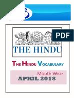 April-2018 Hindu Voacb