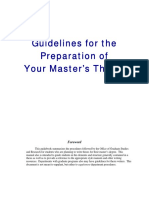 Guidelines for Thesis