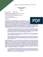 Case 3 - Pangasinan Transportation Co. vs Public Service Commission, June 24, 1940