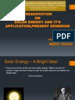 PPT on Solar Energy