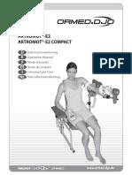 Artromot E2 Operations Manual