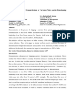 Impact of Demonetization on the Indian Economy - Article