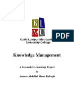 Knowledge Management Research Paper