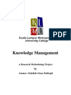 Research papers on knowledge management