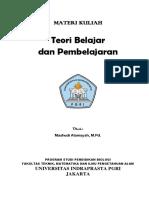 Materi Kuliah Teori Belajar Dan Pembelajaran(1)