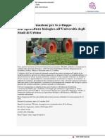 Corso di formazione all'agricoltura biologica all'Università di Urbino - Cucina-naturale.it, 1 settembre 2018