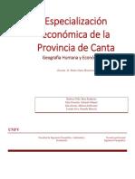 Especialización Economica