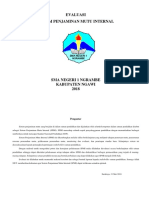 Form Evaluasi Spmi 2018 Sangra 2