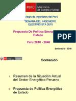 Charla Magistral Propuesta de Política de Estado