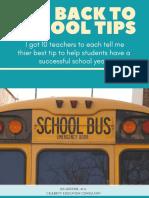 10  back 2 school tips