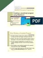 JavaScript 02 WebStorm