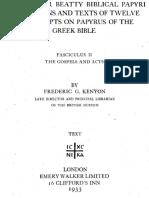Chester Beatty biblical papyri ... texts of twelve mss. on papyrus greek bible. Fasc.II Evs-Hch (F. Kenyon).pdf