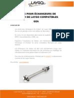 JOINTS POUR ÉCHANGEURS DE CHALEUR DE LAYGO COMPATIBLES GEA