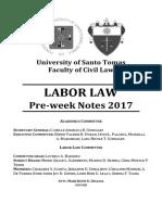 Labor Law 2017 Preweek