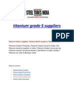 Titanium Grade 5 Suppliers