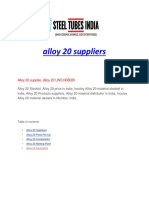 Alloy 20 Suppliers