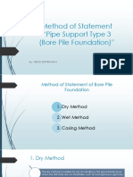 Method of Statement Bore Pile Foundation
