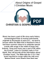Know More About Origins of Gospel and Christian Music