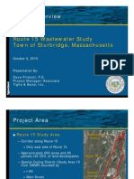 Route 15 Wastewater Study - October 4, 2010