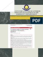 An Outcome Analysis of Anterior Epistaxis Management In