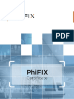 Phifix Certificate - On-boarding Tool to Verify Client FIX Connections