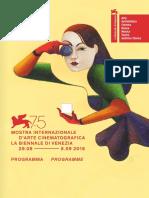 Programma Mostra del Cinema di Venezia