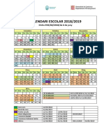 Calendari Escolar Curs 2018-19