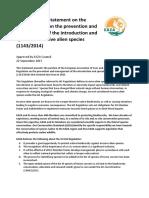 EAZA Position Statement IAS Regulation 2017 09 FINAL