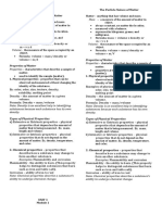 Properties of Matter Notes Grade 8