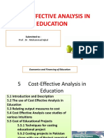 Cost-effective Analysis in Education