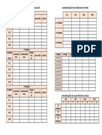 Calendarização Dos Elementos de Avaliação e Horário