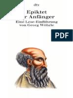 Georg Wöhrle Epiktet Für Anfänger Eine Lese-Einführung