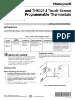 Honeywell VisionPro 8000 Install Manual 69-1706
