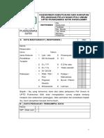 Kuesioner Kebutuhan Dan Harapan Pelanggan Pelayanan Poli Umum
