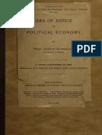 SCHMOLLER. Gustav Von. the Idea of Justice in Political Economic