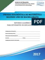 SV - Prueba diagnóstica de Matemática  Segundo Año de Bachillerato - 2017.pdf