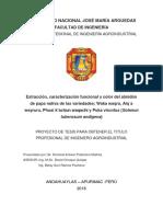Proyecto de Tesis Extraccion, Caracterizacion Funcional y Color Del Amidon de Papa Nativa