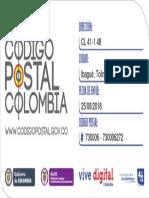 Codigo Postal Casa