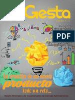 Boletín Gesta Edición No 13 - Boletín del Departamento de Ciencias Administrativas del ITM