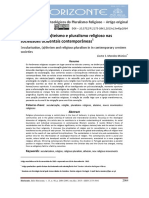 Secularização, (a) Teísmo e Pluralismo Religioso Nas Sociedades Ocidentais Contemporâneas