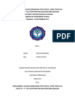 Manajemen Asuhan Kebidanan Post Natal Care Fisiologi