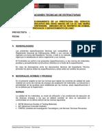 Especificaciones Técnicas - Estructura- M.M