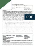 Ejemplo Formato - Descripción de Actividades
