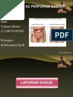 Pptcase Peritonitis Ec Perforasi Gaster