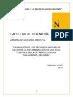 VALORACIÓN DE LOS RECURSOS NATURALES