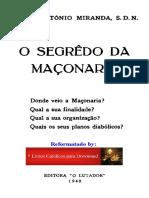 O Segredo Da Maçonaria - Pe Antonio Miranda