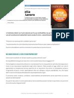La Pienezza Al Lavoro - Flavio Fabiani - L'Impresa Giugno 2017