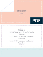 Group 5 (Translation)