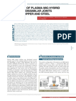Application of Plasma MIG Hybrid Welding to Dissimilar Joints Between Copper and Steel